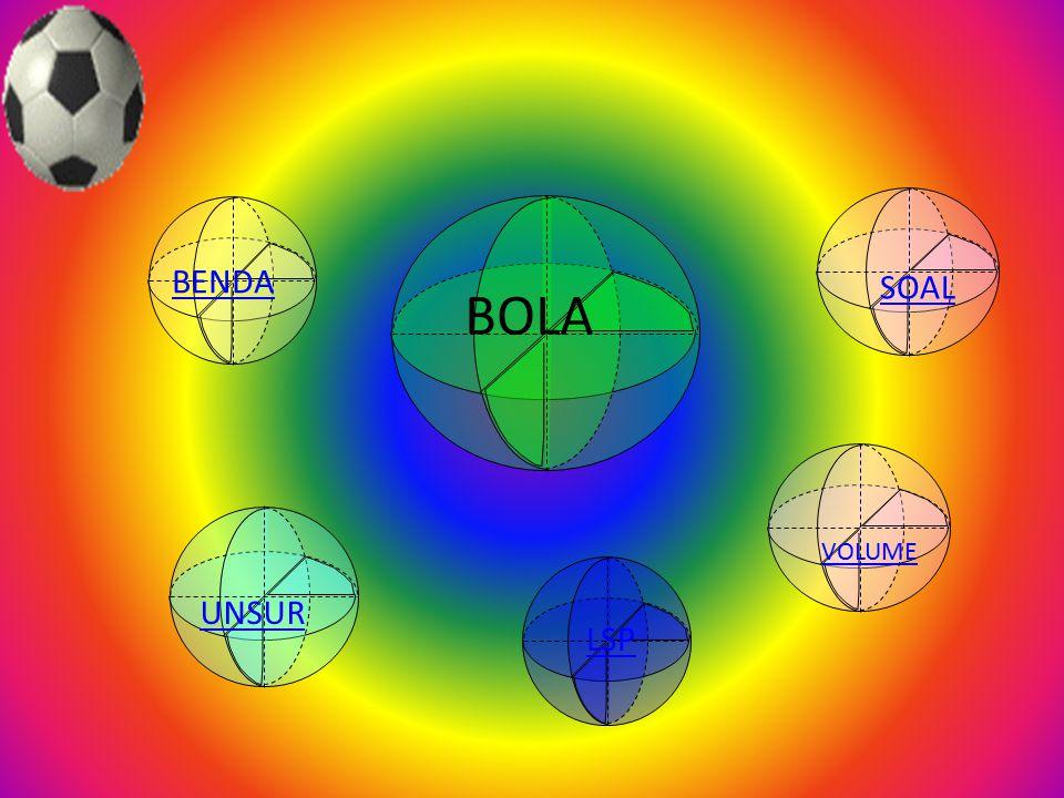 b. Luas permukaan kerucut= luas selimut + luas alas Sebuah es krim dimasukkan ke dalam wadah yang berbentuk kerucut dengan diameter 5cm dan tinggi 15