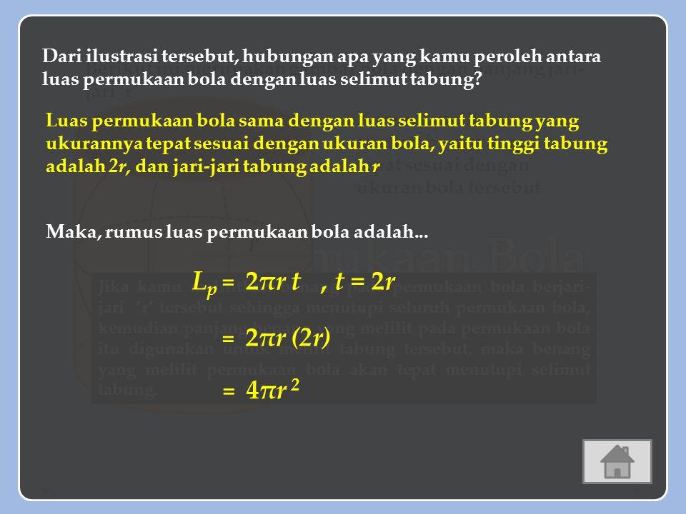 SALAH Latihan Soal A.748 cm 2 B. 749 cm 2 C. 2112 cm 2 D.