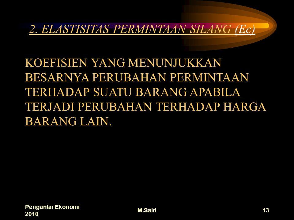 Pengantar Ekonomi 2010 M.Said13 2.
