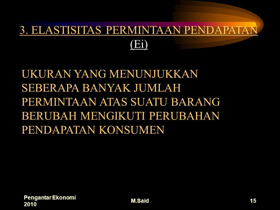 Pengantar Ekonomi 2010 M.Said15 3.