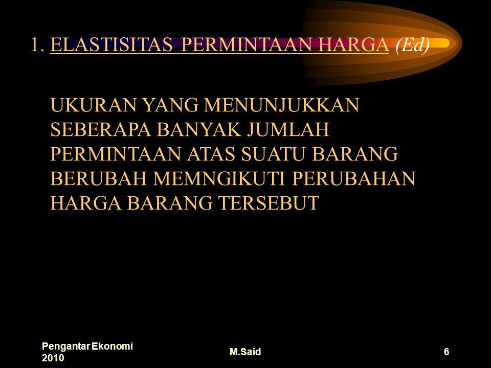 Pengantar Ekonomi 2010 M.Said6 1.