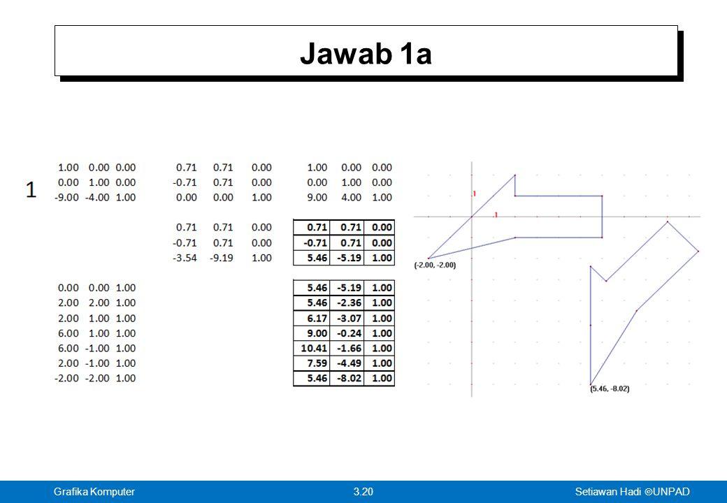 Setiawan Hadi  UNPAD 3.20Grafika Komputer Jawab 1a