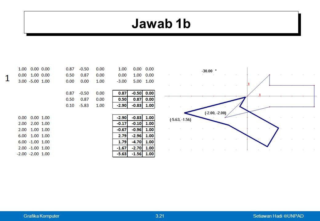 Setiawan Hadi  UNPAD 3.21Grafika Komputer Jawab 1b