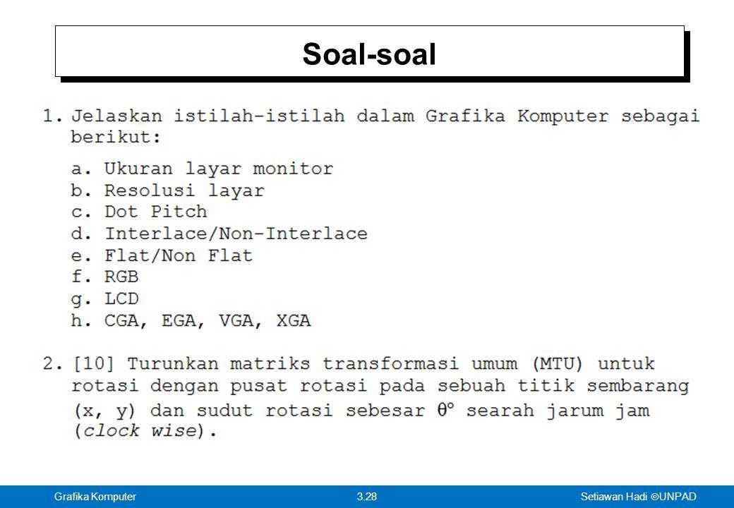 Setiawan Hadi  UNPAD 3.28Grafika Komputer Soal-soal