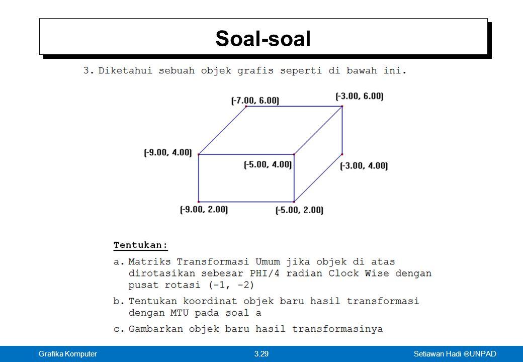 Setiawan Hadi  UNPAD 3.29Grafika Komputer Soal-soal