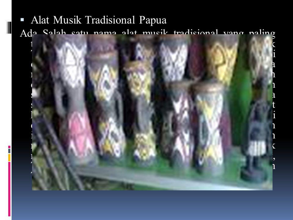  Alat Musik Tradisional Papua Ada Salah satu nama alat musik tradisional yang paling terkenal yang berasal dari Papua yaitu Tifa.
