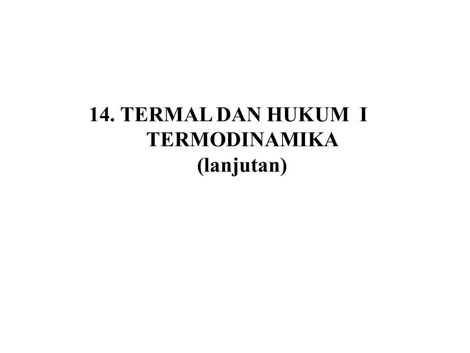 14. TERMAL DAN HUKUM I TERMODINAMIKA (lanjutan)