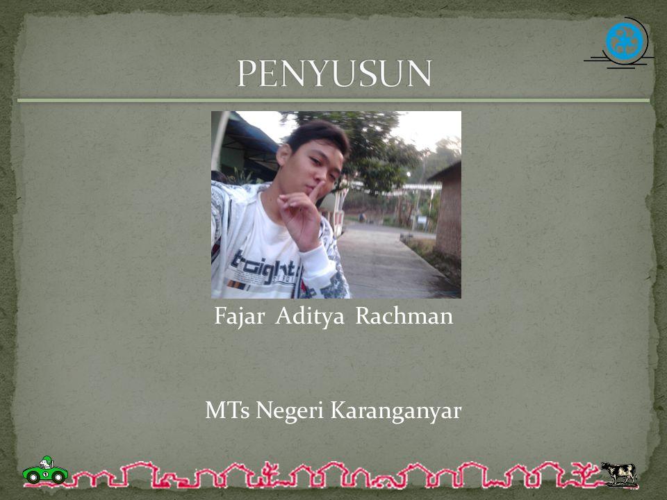 Fajar Aditya Rachman MTs Negeri Karanganyar