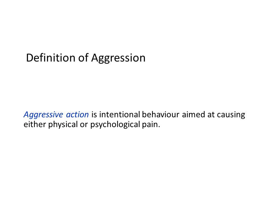 Aggression Dibedakan antara hostile dan instrumental aggression.