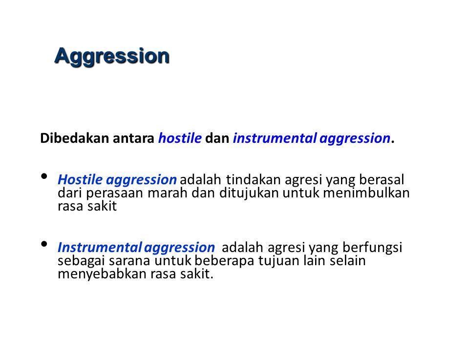 Frustasi Frustrasi merupakan penyebab utama agresi Frustrasi terjadi ketika seseorang digagalkan dalam meraih tujuan yang diharapkan atau mendapatkan gratifikasi (Barker et al, 1941).
