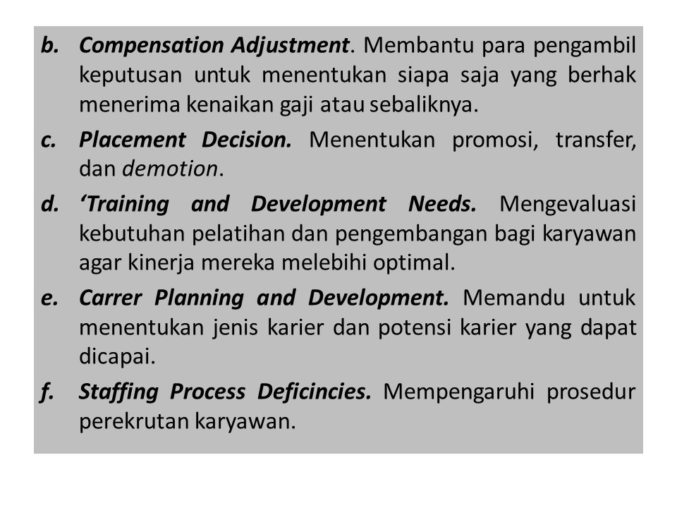 b.Compensation Adjustment.