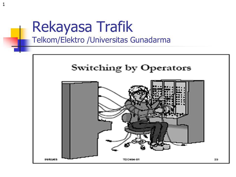 1 Rekayasa Trafik Telkom/Elektro /Universitas Gunadarma