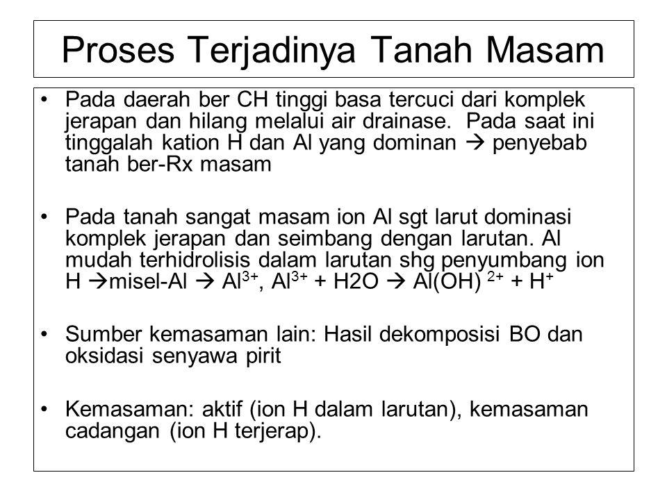 Potensi Tanah Masam di Indonesia Tanah masam utama: Podzolik (=Ultisols) ; 38.401 juta ha.