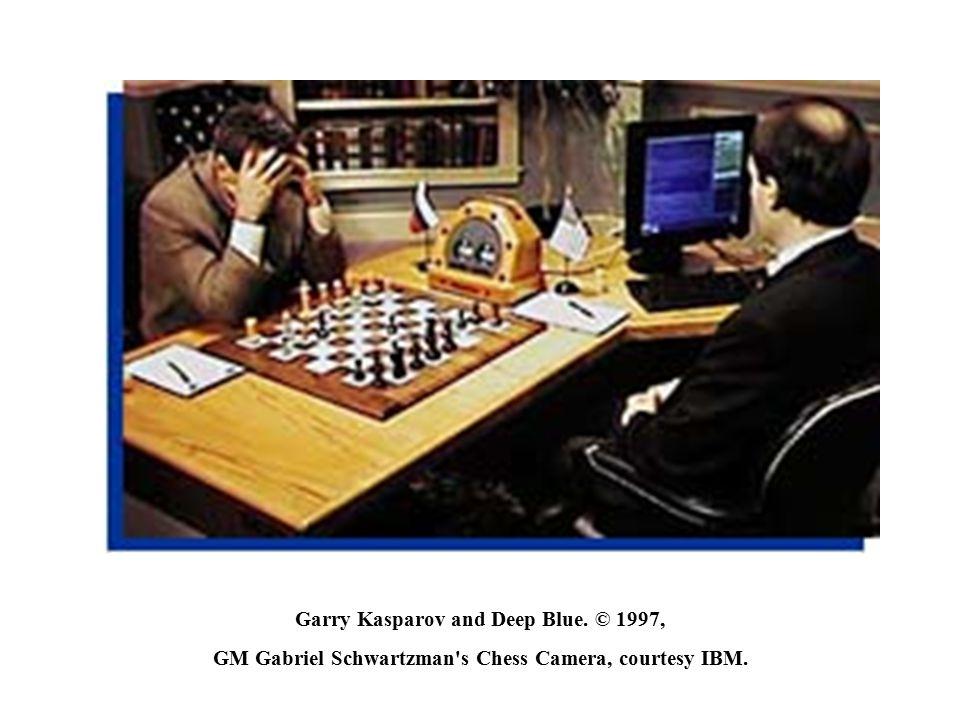 Garry Kasparov and Deep Blue. © 1997, GM Gabriel Schwartzman's Chess Camera, courtesy IBM.