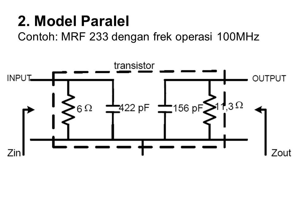 Contoh Soal 1.Berapakah beban yang optimum, jika daya RF keluaran sebesar 2 Watt, dengan tegangan catuan sebesar 12 volt dan tegangan saturasi transistor sebesar 2 volt.