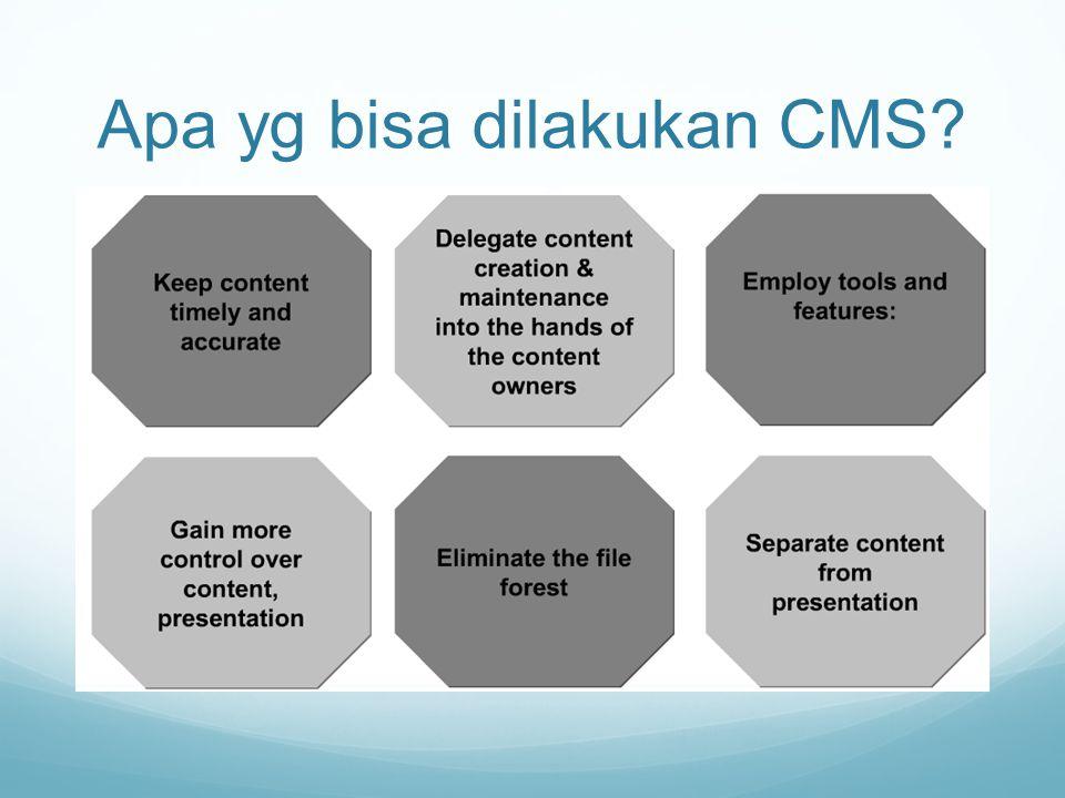 Apa yg bisa dilakukan CMS?