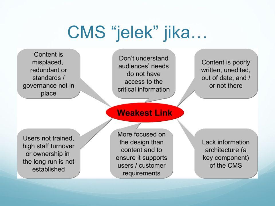 """CMS """"jelek"""" jika…"""