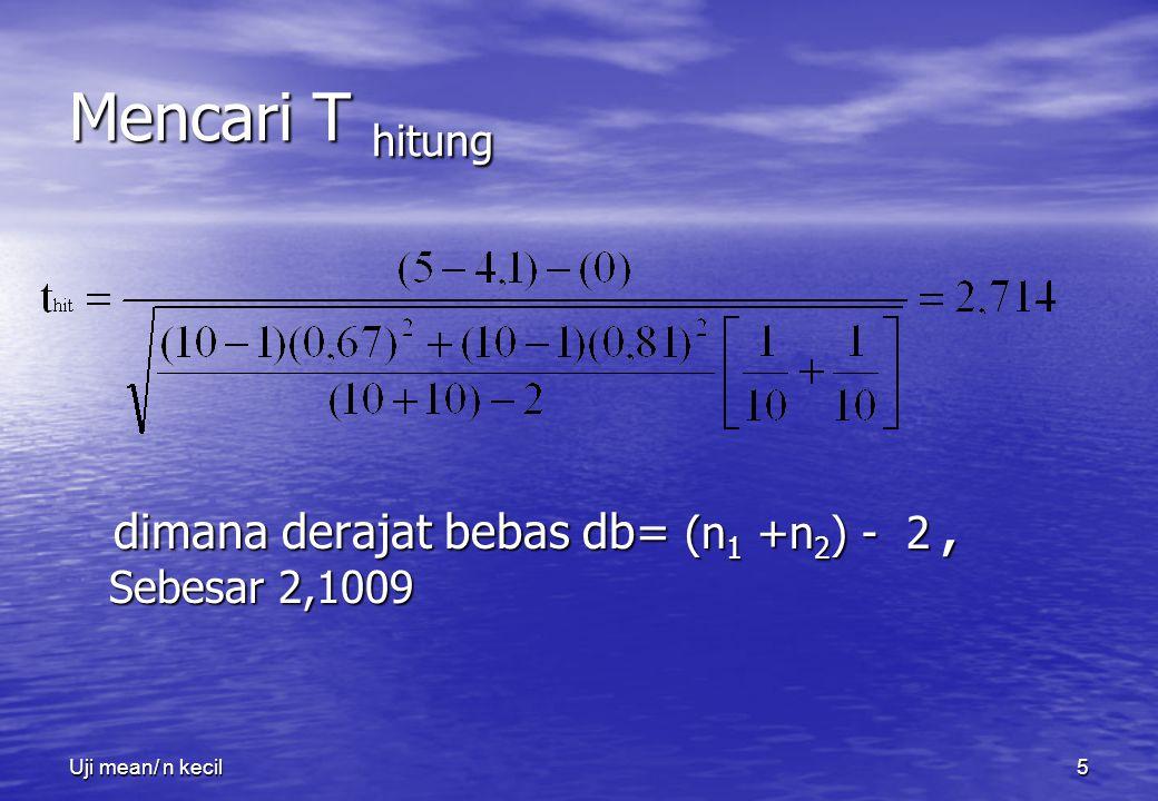 Uji mean/ n kecil6 4.