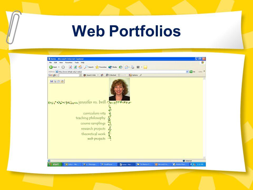 Web Portfolios