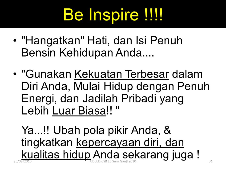 Be Inspire !!!!