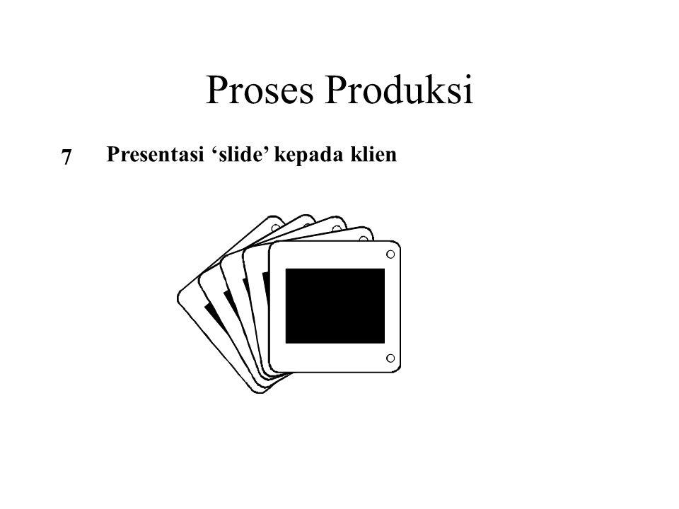 Proses Produksi 7 Presentasi 'slide' kepada klien