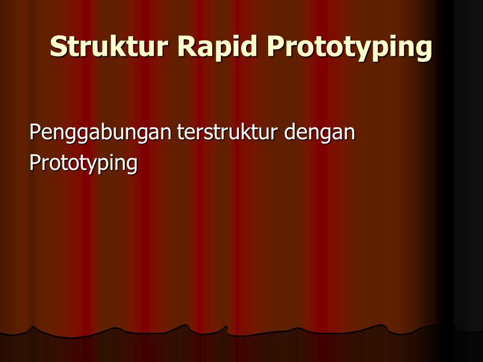 Struktur Rapid Prototyping Penggabungan terstruktur dengan Prototyping