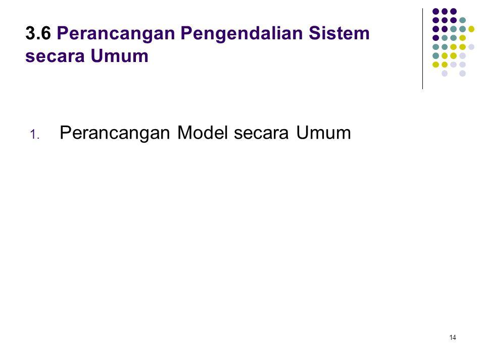 14 3.6 Perancangan Pengendalian Sistem secara Umum 1. Perancangan Model secara Umum