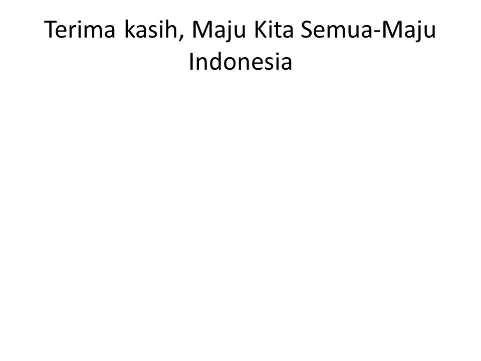 Terima kasih, Maju Kita Semua-Maju Indonesia