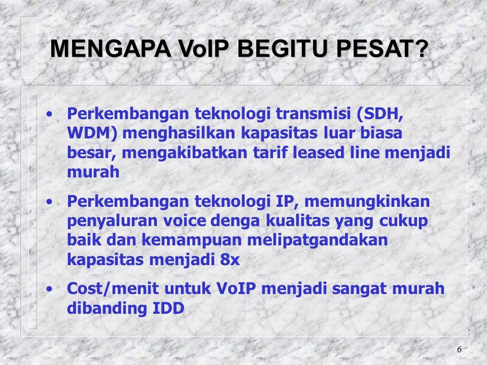 6 MENGAPA VoIP BEGITU PESAT.