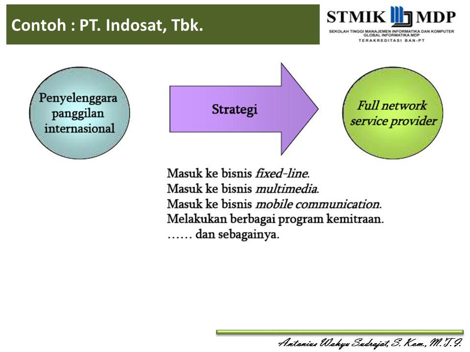 Antonius Wahyu Sudrajat, S. Kom., M.T.I. Contoh : PT. Indosat, Tbk.