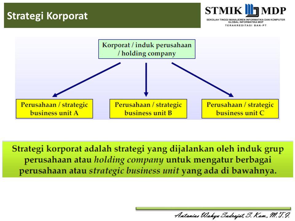 Antonius Wahyu Sudrajat, S. Kom., M.T.I. Strategi Korporat