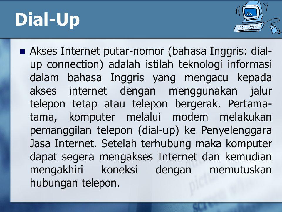 Dial-Up Akses Internet putar-nomor (bahasa Inggris: dial- up connection) adalah istilah teknologi informasi dalam bahasa Inggris yang mengacu kepada akses internet dengan menggunakan jalur telepon tetap atau telepon bergerak.