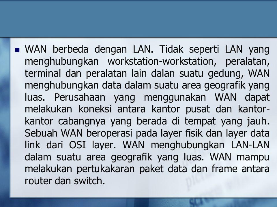WAN berbeda dengan LAN.