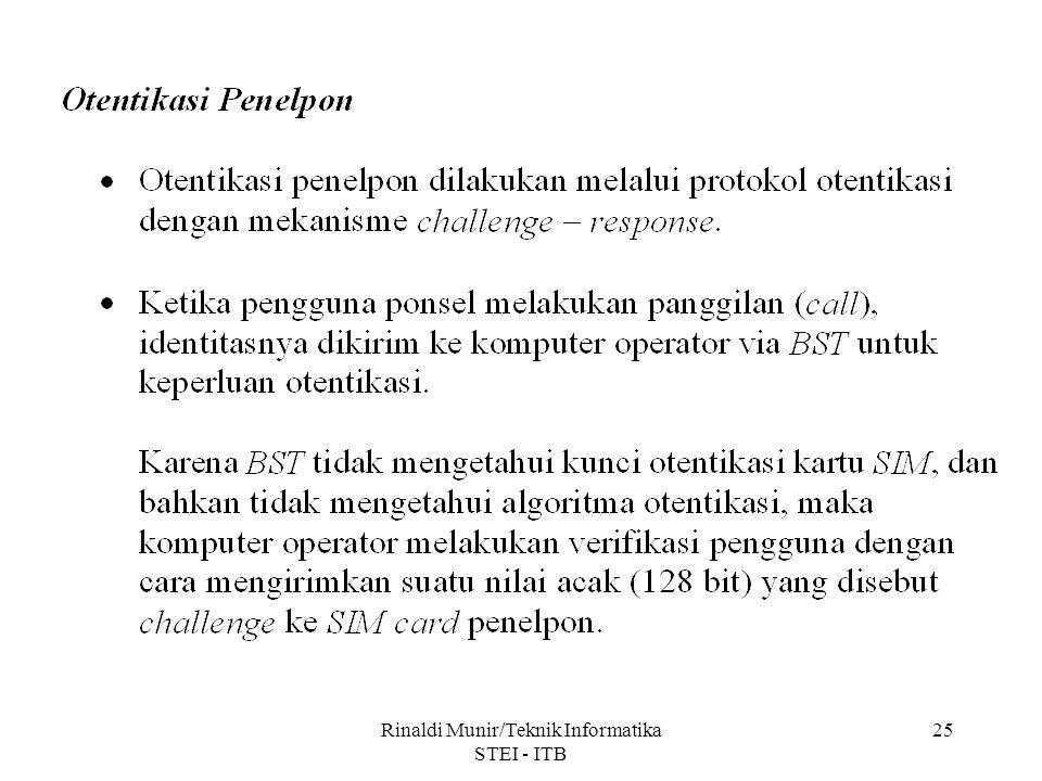 Rinaldi Munir/Teknik Informatika STEI - ITB 25