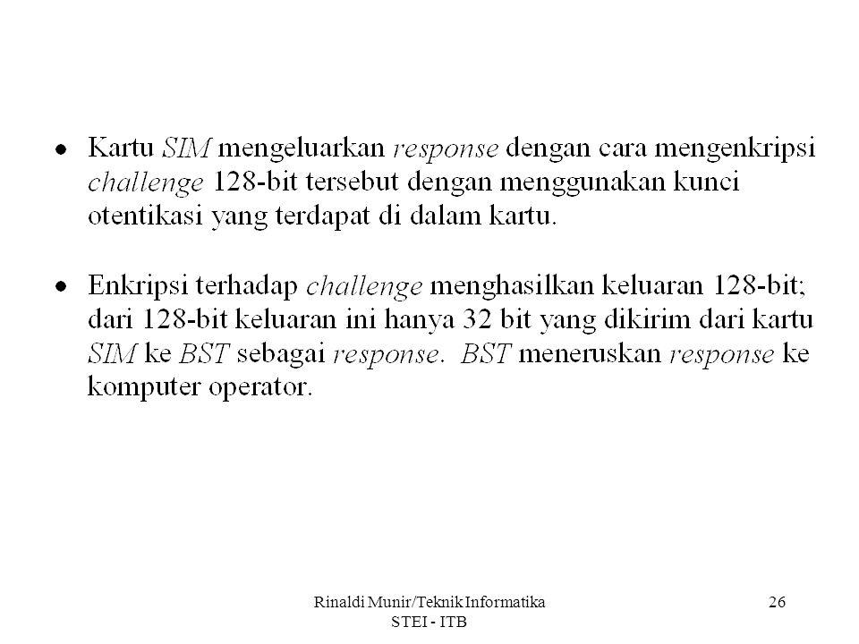 Rinaldi Munir/Teknik Informatika STEI - ITB 26