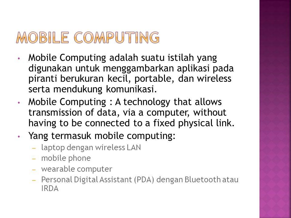 Suatu computer yang ditanamkan / embedded di dalam sebuah peralatan yang dapat digunakan oleh manusia