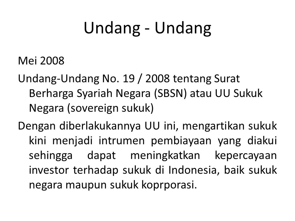 Undang - Undang Mei 2008 Undang-Undang No.