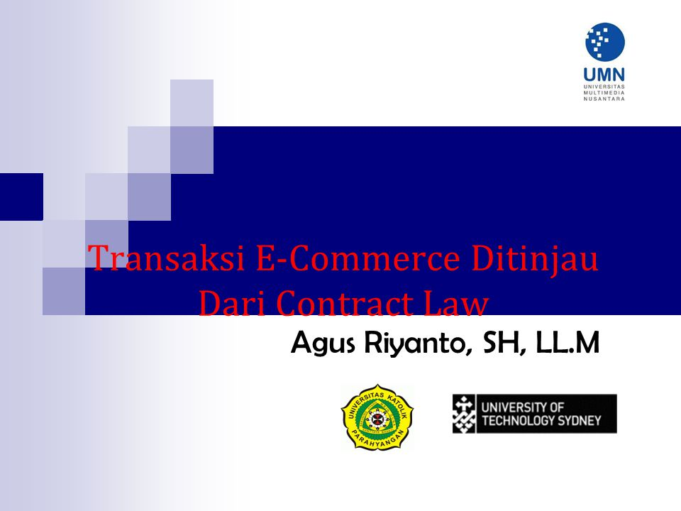 Pengertian E- Commerce Electronic Commerce Transaction adalah transaksi perdagangan antara penjual dengan pembeli untuk menyediakan barang, jasa atau mengambil alih hak dengan mempergunakan media elektronik (digital medium) di mana para pihak tidak hadir secara fisik.