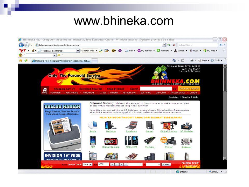 Dalam transaksi e-commerce pihak yang memberikan penawaran adalah pihak penjual, dalam hal ini yang ditawarkan adalah barang barang dagangannya melalui website.