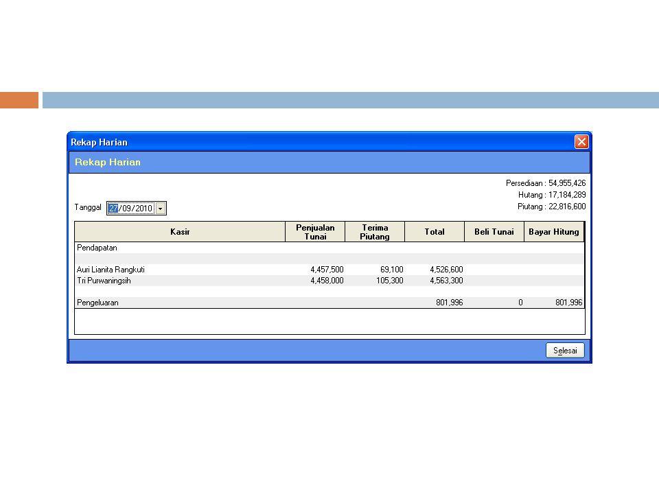 Misalnya : data mahasiswa yang memuat NIM, nama, alamat dan atribut lainnya data KHS mahasiswa yang isinya terdapat NIM, nama, mata_kuliah dan Nilai.