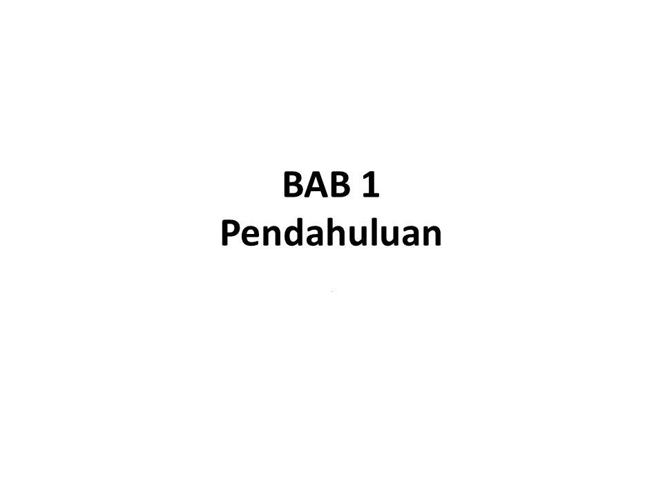 BAB 1 Pendahuluan.