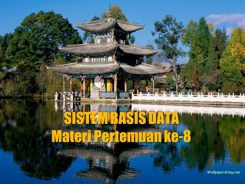 PTI-62 DATABASE DATABASE adalah kumpulan file-file yang mempunyai kaitan antara satu file dengan file yang lain sehingga membentuk satu bangunan data untuk menginformasikan satu perusahaan,instansi dalam batasan tertentu DATABASE MANAGEMEN SYSTEM(DBMS) Kumpulan file yang saling berkaitan bersama denagn program untuk pengelolaannya.