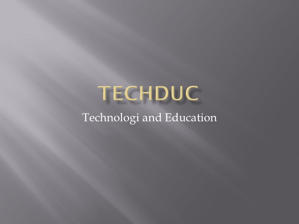 Technologi and Education