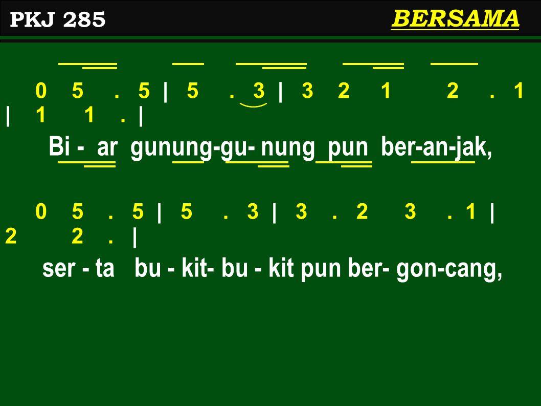 0 5.5 | 5. 3 | 3 2 1 2. 1 | 1 1. | Bi - ar gunung-gu- nung pun ber-an-jak, 0 5.
