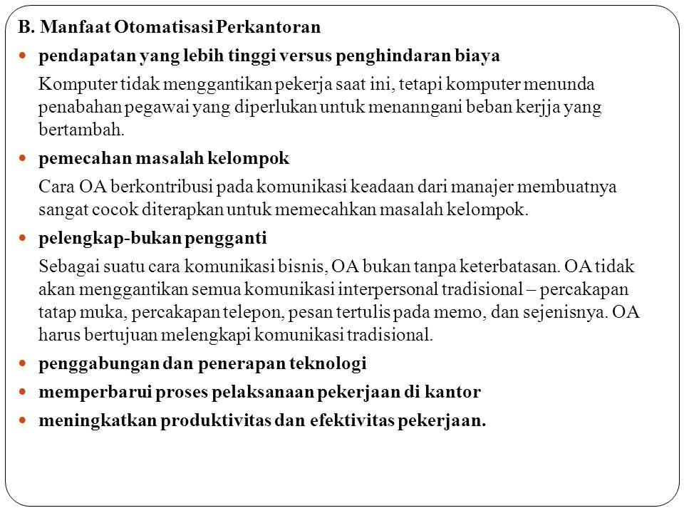 C. Model Otomatisasi Perkantoran