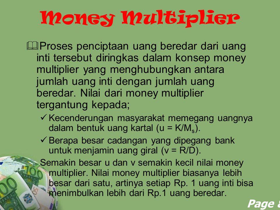 Deposito yang diterima bank tapi belum dipinjamkan disebut cadangan (reserves).