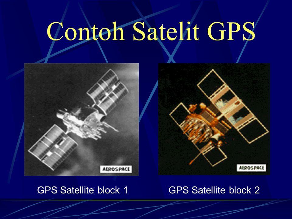 GPS Satellite block 1GPS Satellite block 2 Contoh Satelit GPS