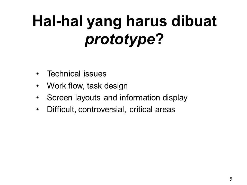 Rancangan layar terinci membuat implementasi mudah dan tidak ambigu 16