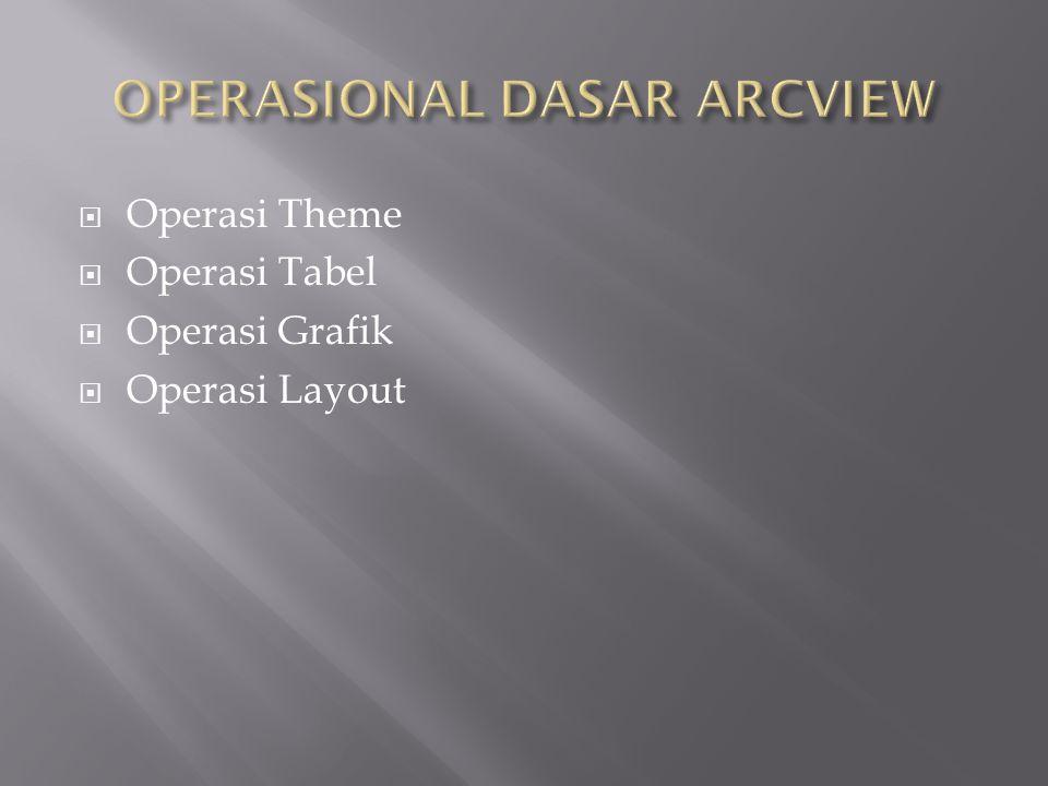  Operasi Theme  Operasi Tabel  Operasi Grafik  Operasi Layout