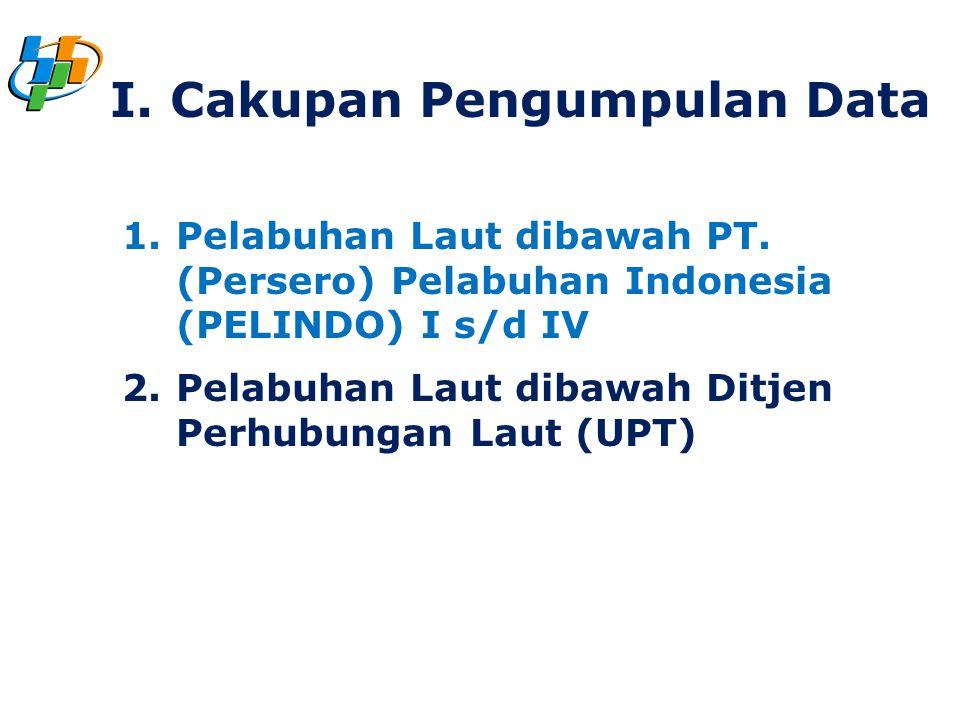 1.Pelabuhan Laut dibawah PT. (Persero) Pelabuhan Indonesia (PELINDO) I s/d IV 2.Pelabuhan Laut dibawah Ditjen Perhubungan Laut (UPT) I. Cakupan Pengum